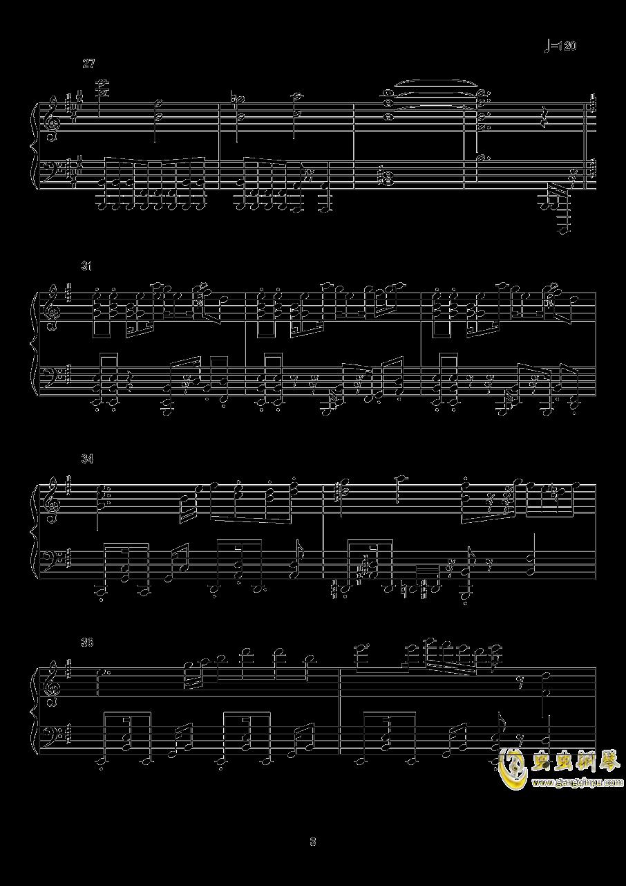 【东方xql】标题曲钢琴谱 第3页