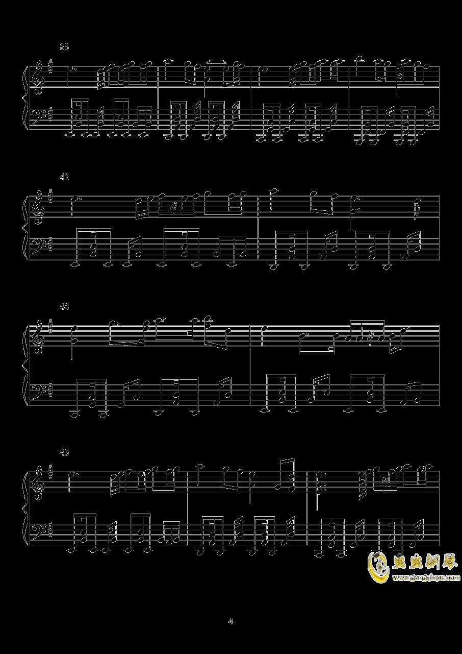【东方xql】标题曲钢琴谱 第4页