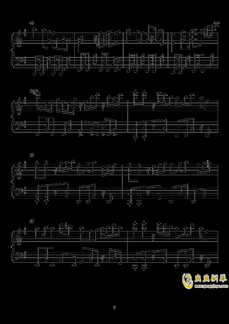 【东方xql】标题曲钢琴谱 第5页