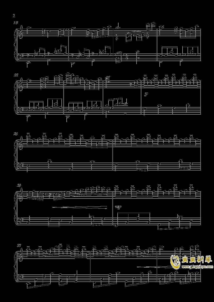 晚霞钢琴谱 第2页