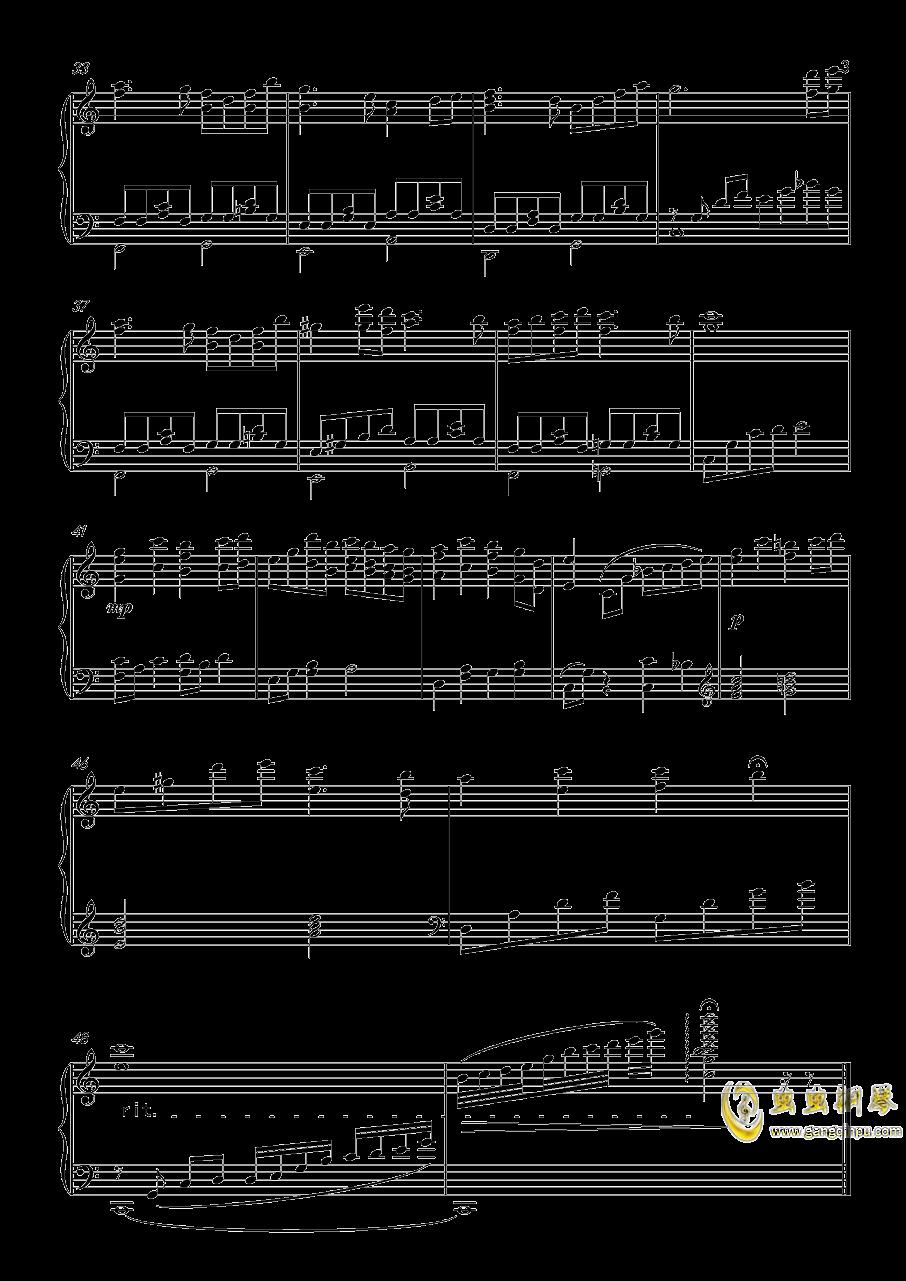 晚霞钢琴谱 第3页