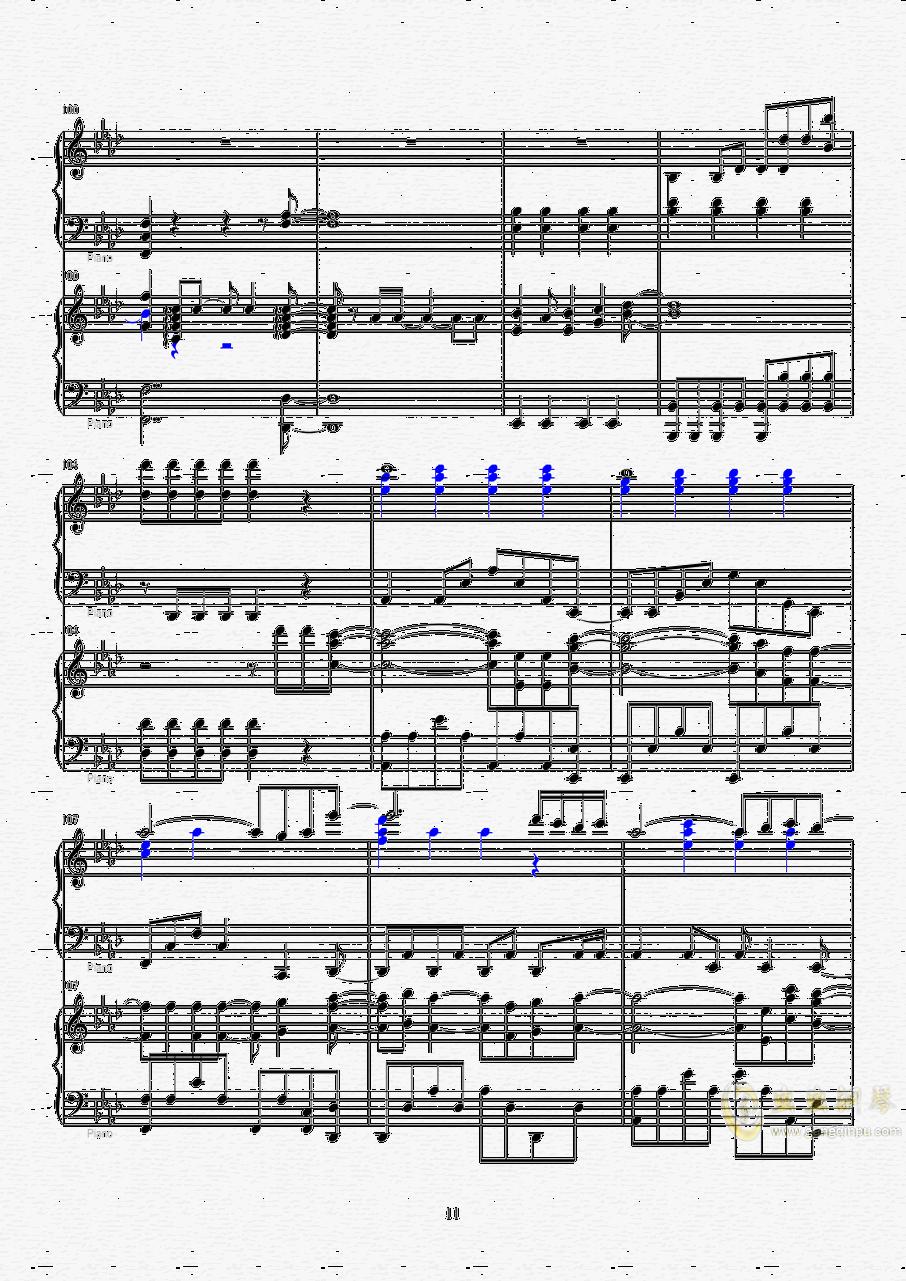 Let it go钢琴谱 第11页