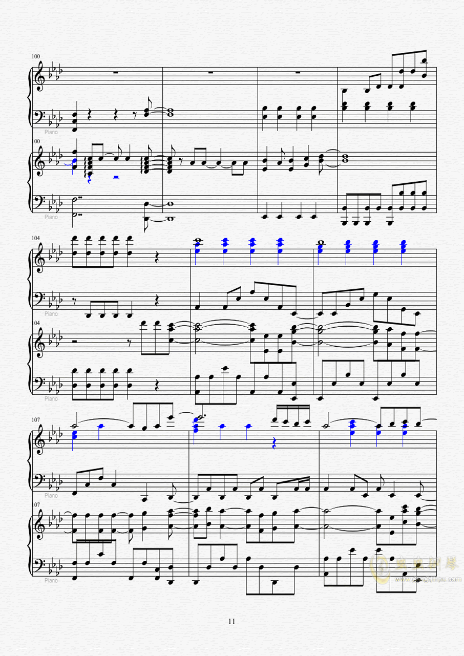 Let it go钢琴谱 第12页