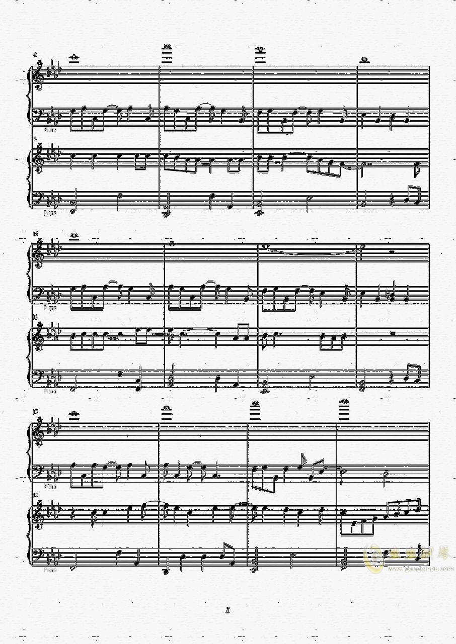 Let it go钢琴谱 第2页