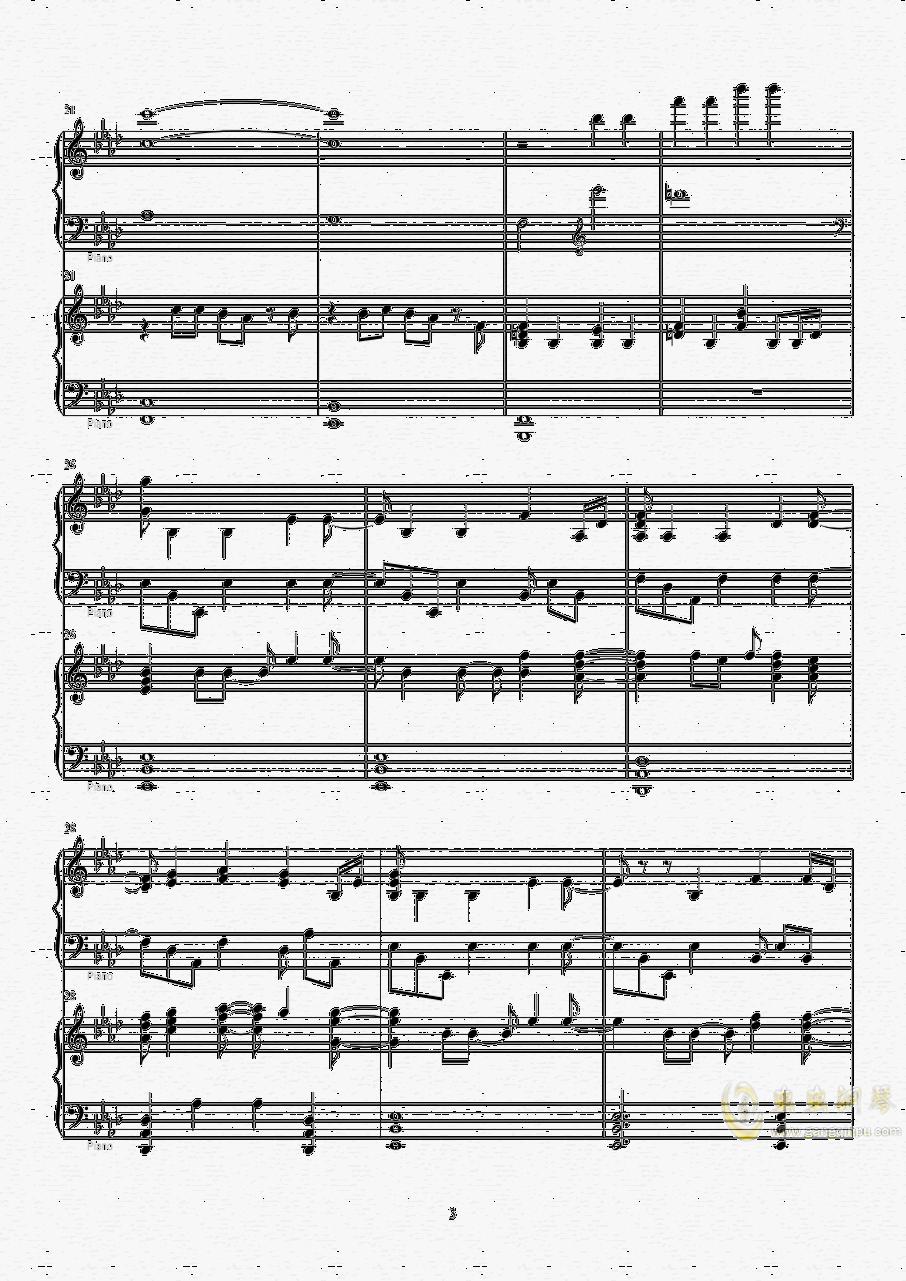 Let it go钢琴谱 第3页