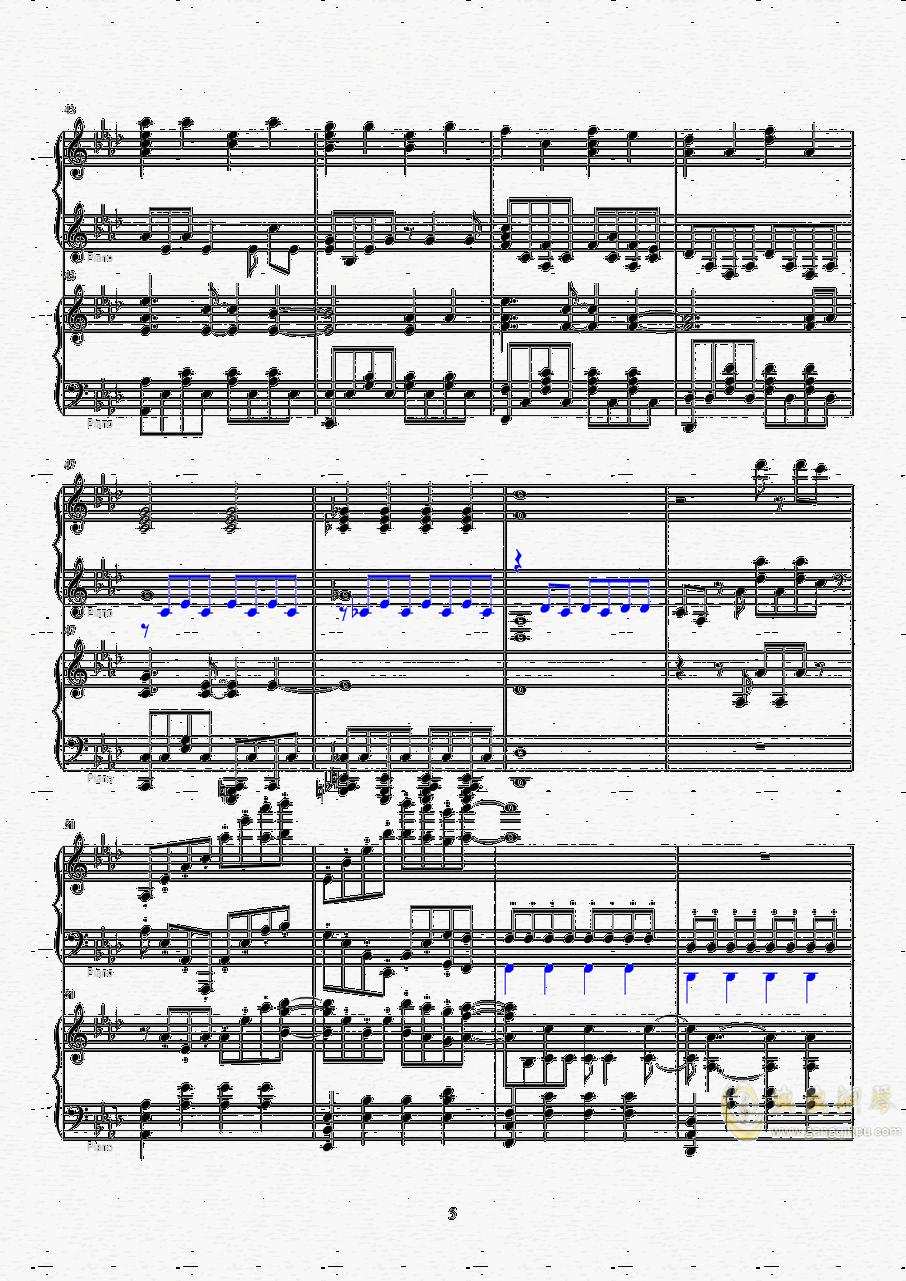 Let it go钢琴谱 第5页
