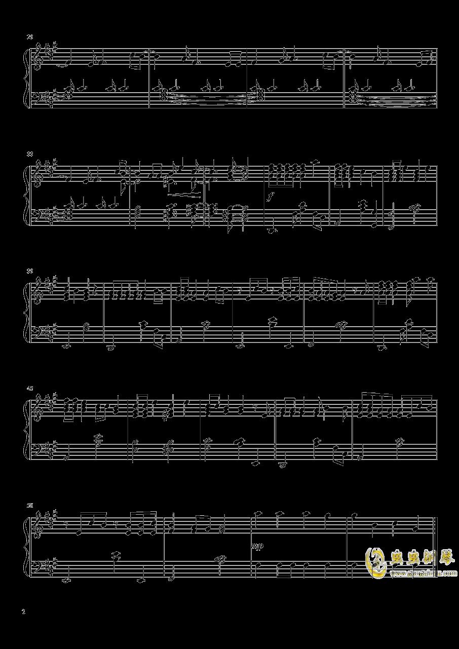 多罗罗ED-さよならごっこ钢琴谱 第2页
