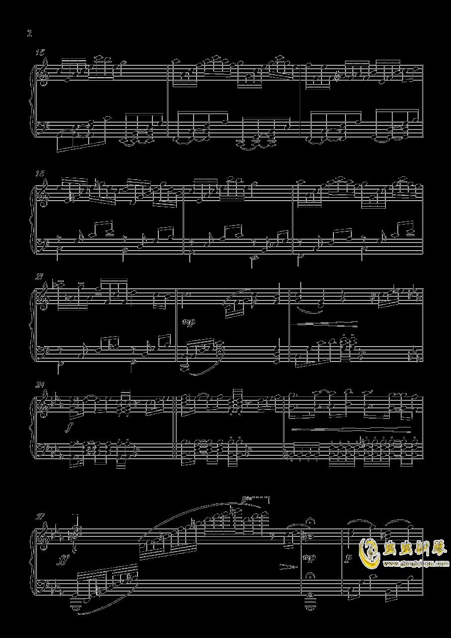 A Banned Dream钢琴谱 第2页