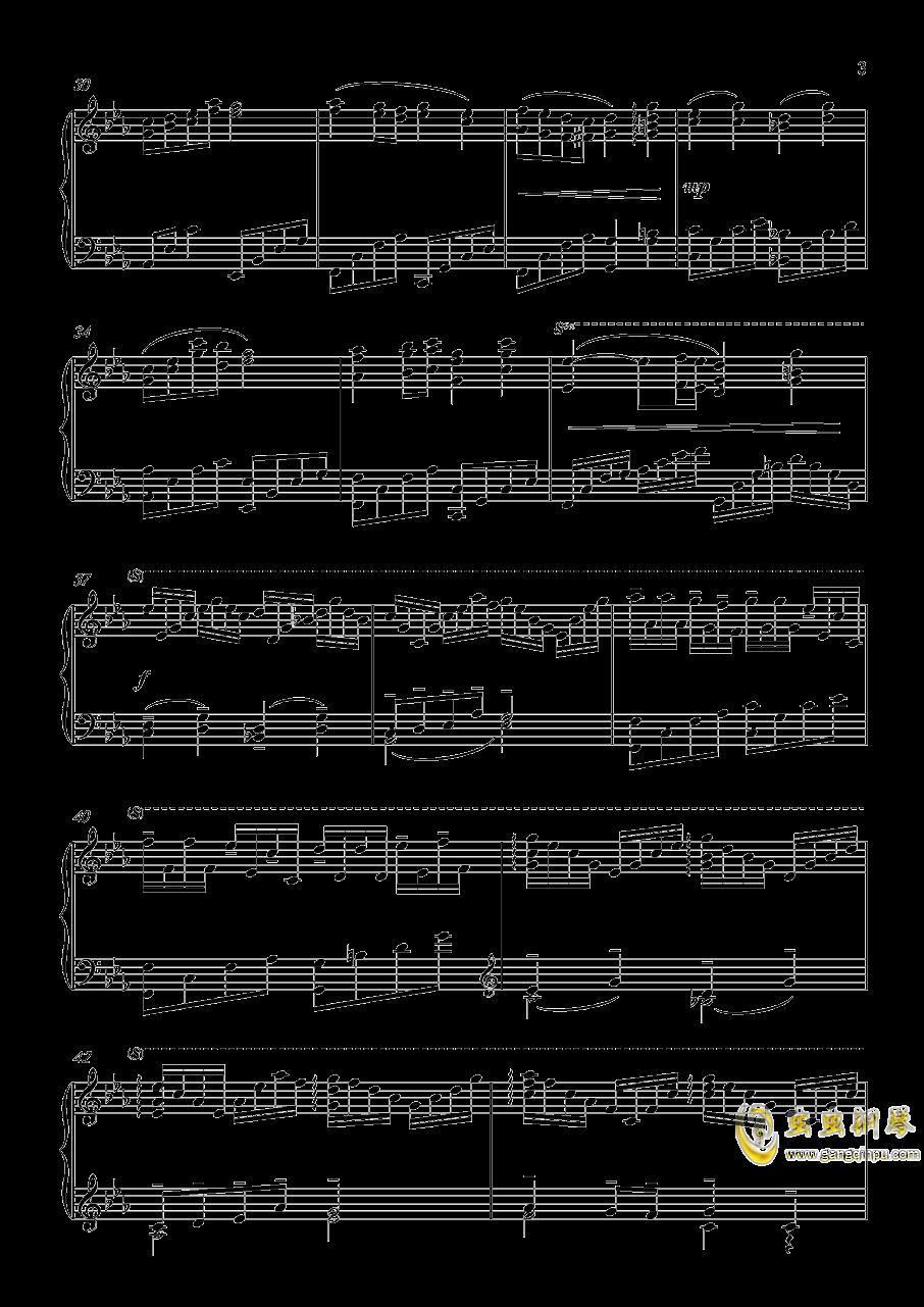 A Banned Dream钢琴谱 第3页