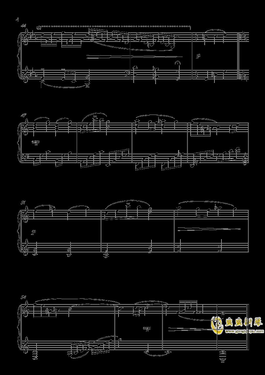 A Banned Dream钢琴谱 第4页
