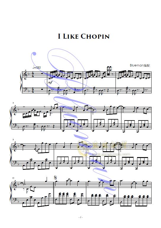 I Like Chopin钢琴谱 第1页