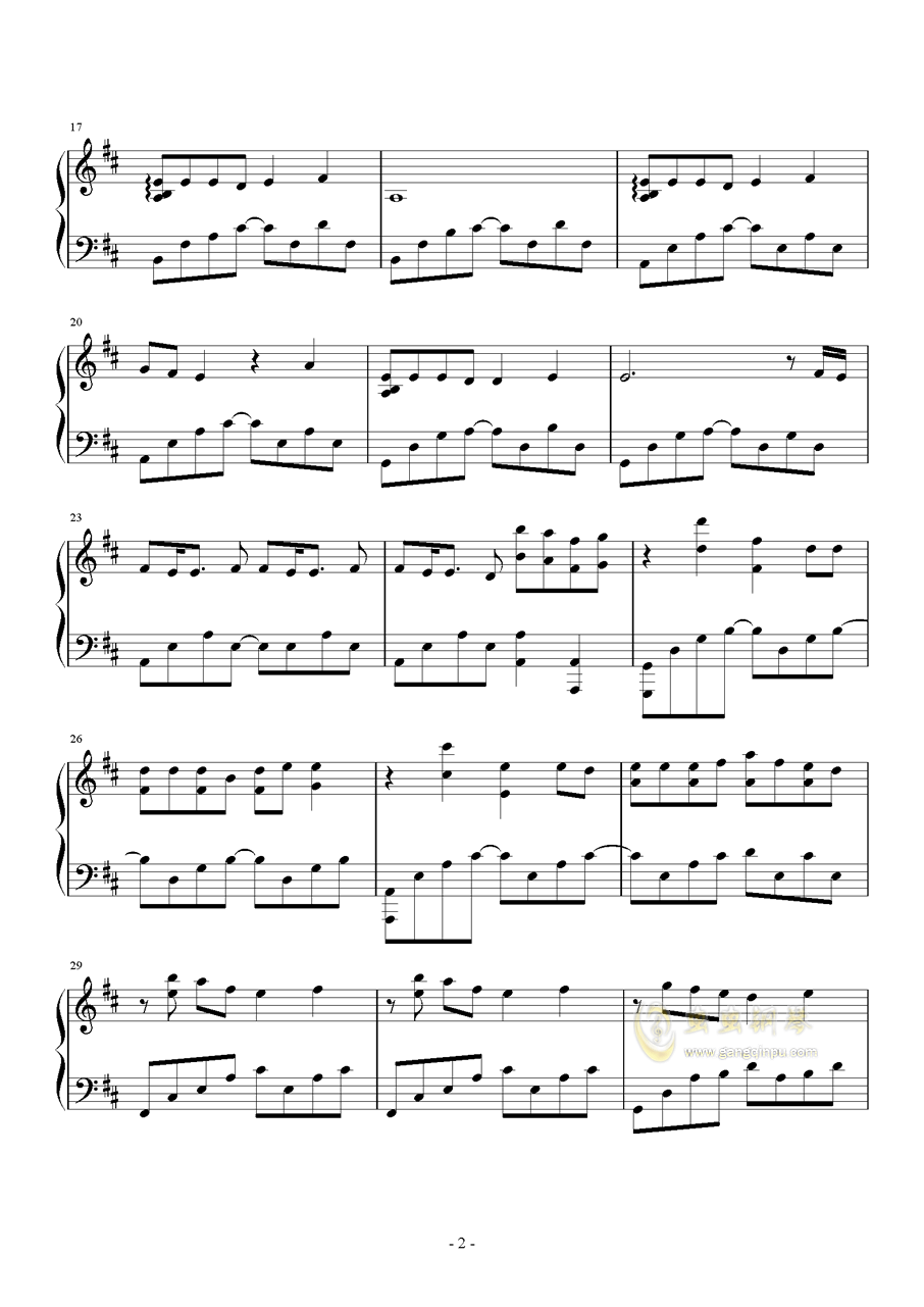 Good Things钢琴谱 第2页