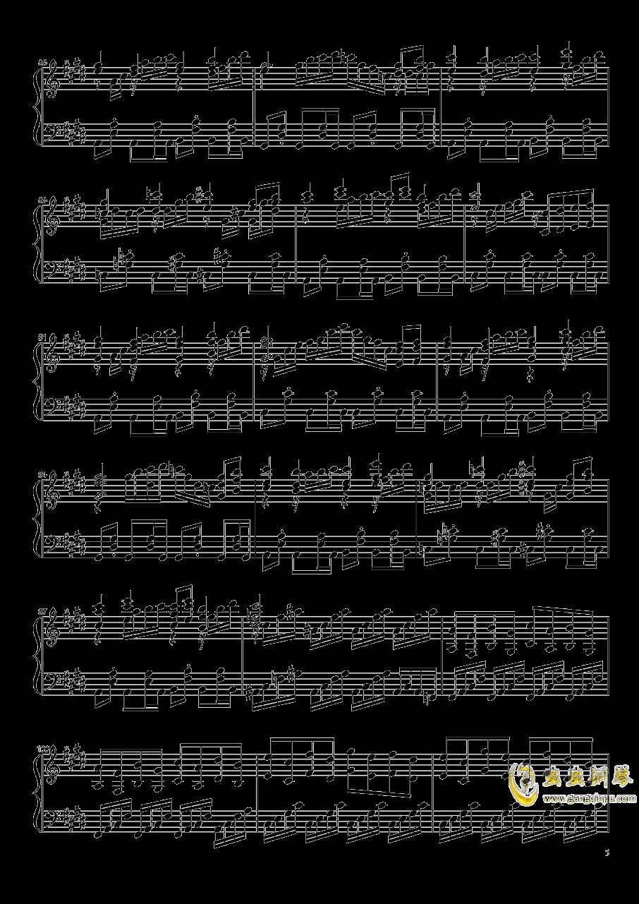 永远的春梦钢琴谱 第5页