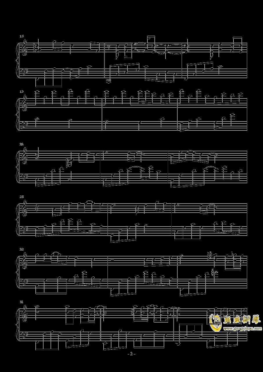 喜欢上你的内心活动钢琴谱 第2页