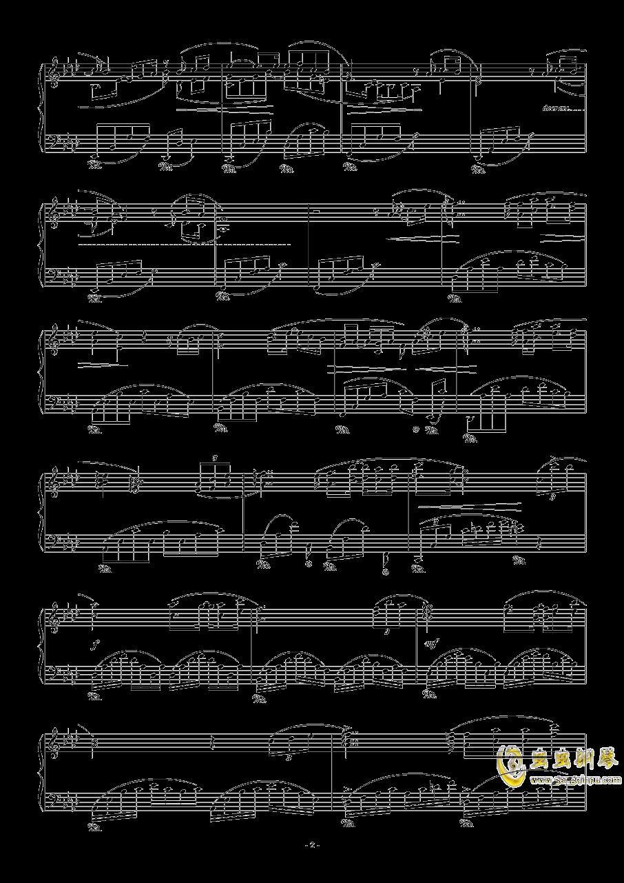 留恋钢琴谱 第2页