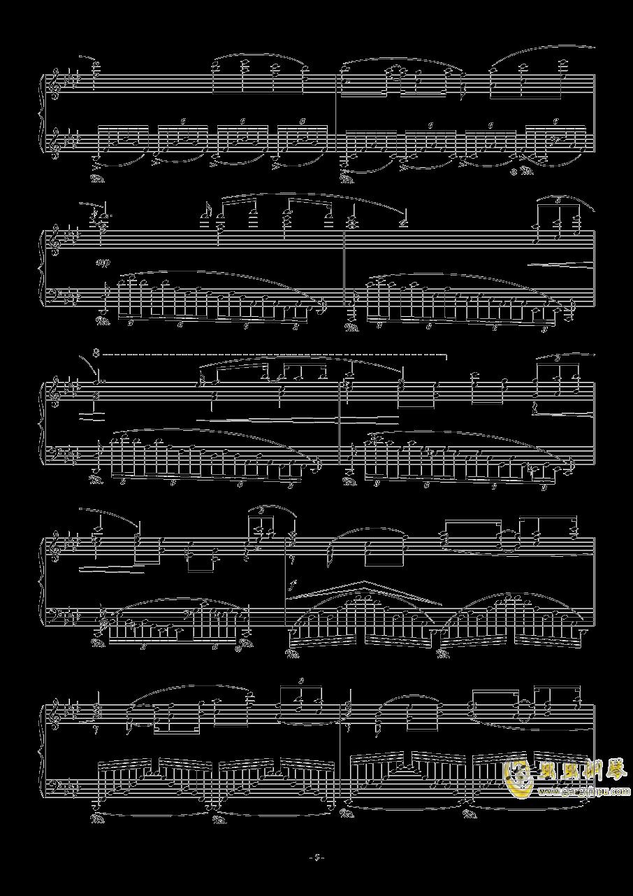 留恋钢琴谱 第5页