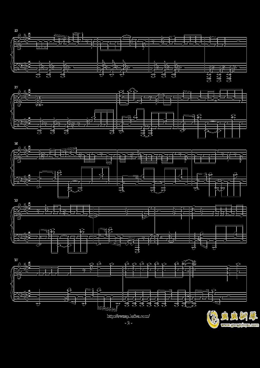 【家有女友】OP《カワキヲアメク》钢琴独奏钢琴谱 第2页