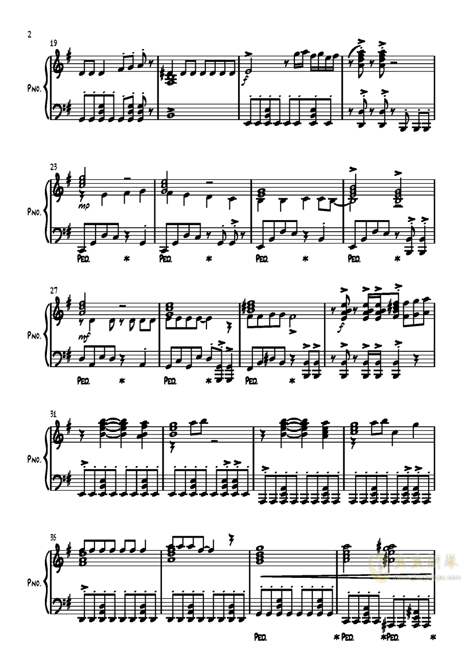 高达ZZ-サイレント-ヴォイス钢琴谱 第2页