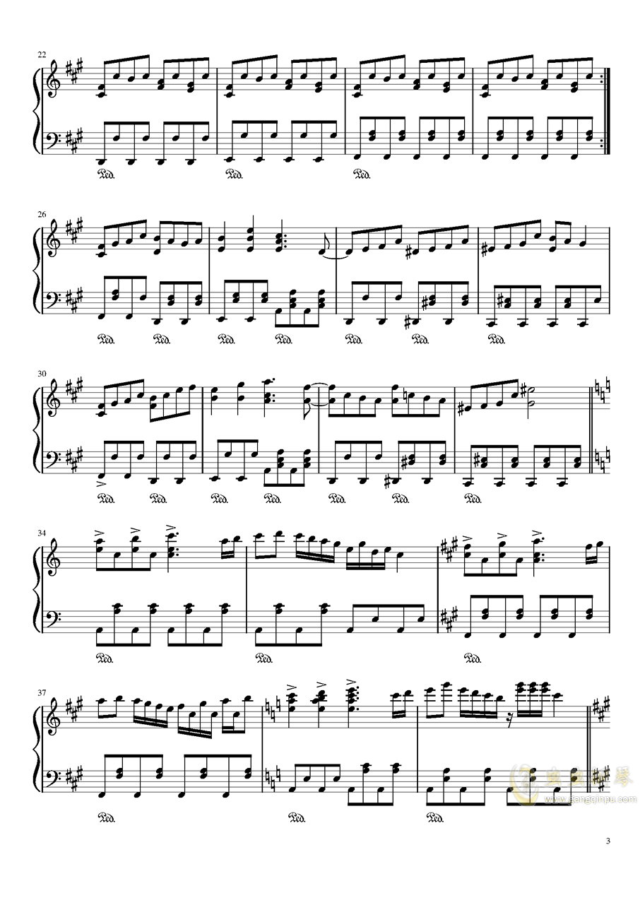 ブクレシュティの人形�� 布加勒斯特的人偶师【触手猴】钢琴谱 第3页