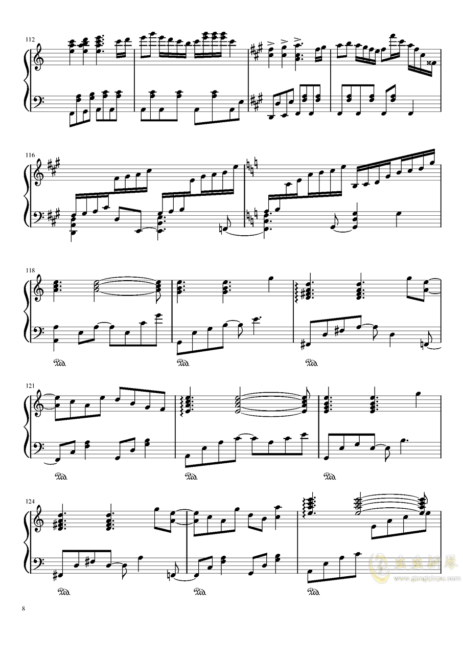 ブクレシュティの人形�� 布加勒斯特的人偶师【触手猴】钢琴谱 第8页