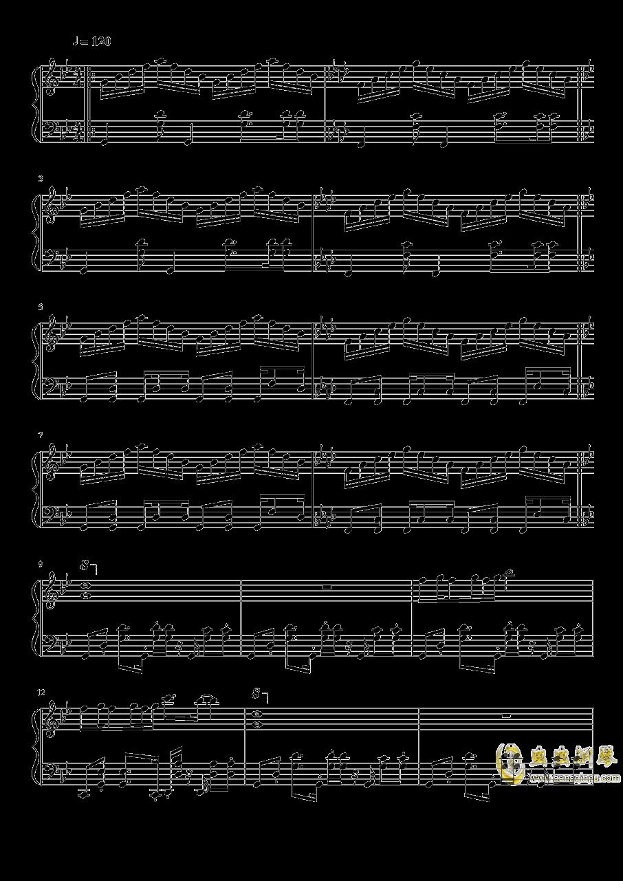 怒之铁拳2第三关钢琴谱 第1页