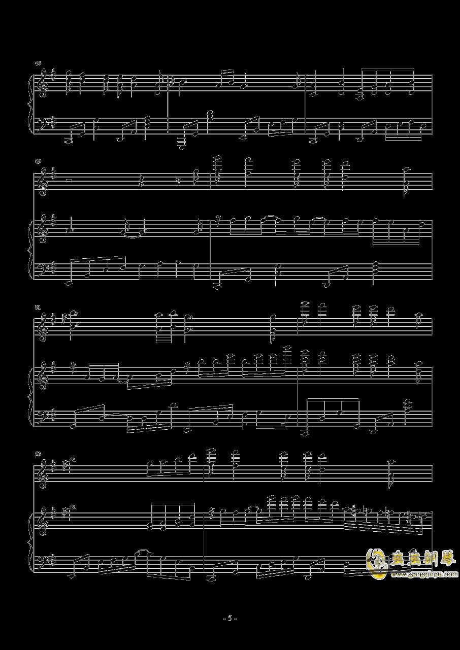 忧伤还是快乐钢琴谱 第5页