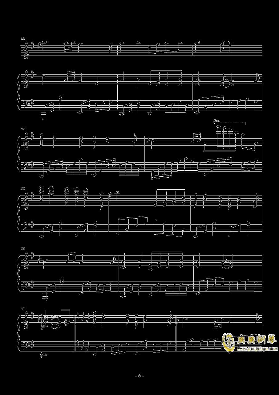 忧伤还是快乐钢琴谱 第6页