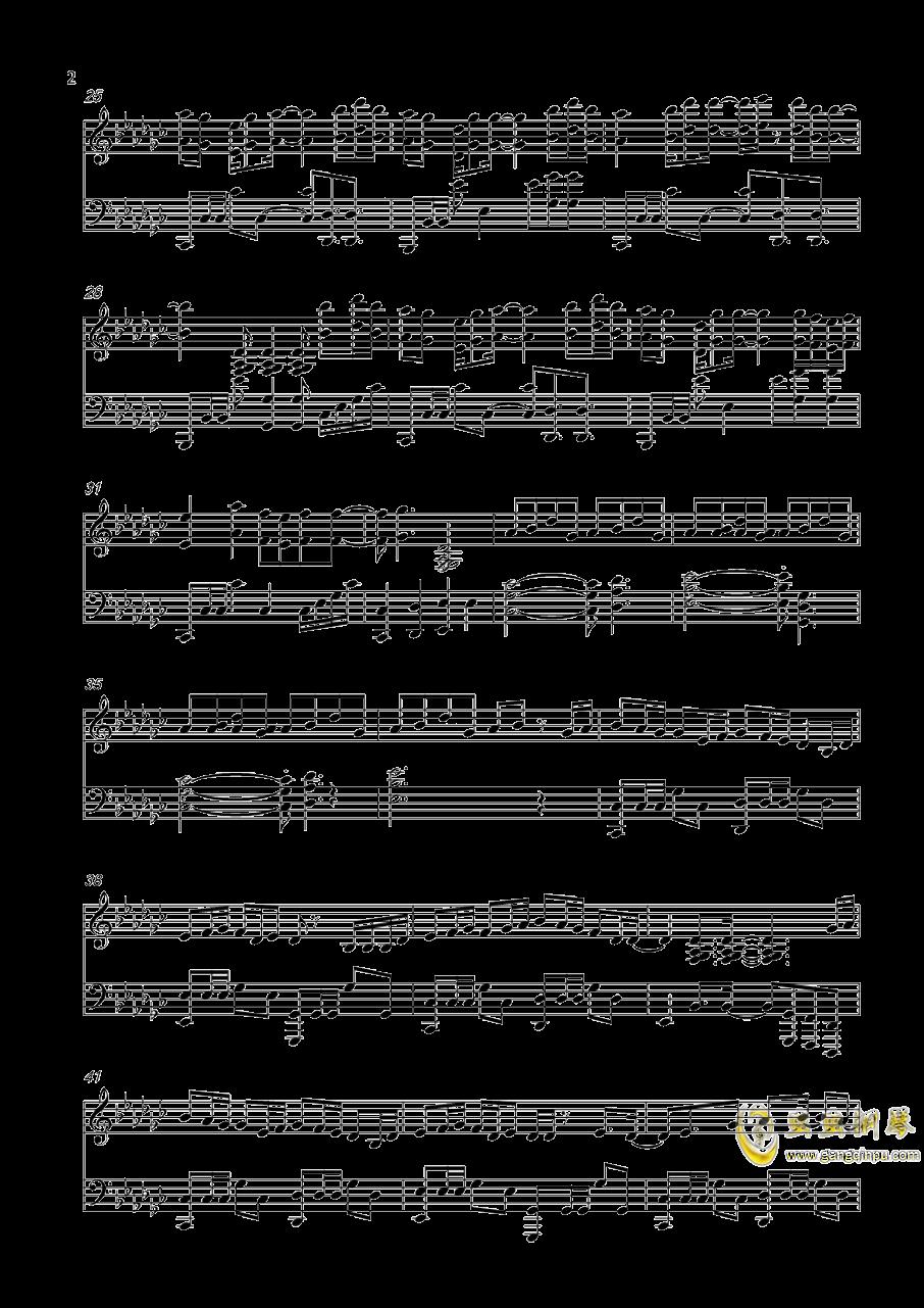 打上花火钢琴谱 第2页