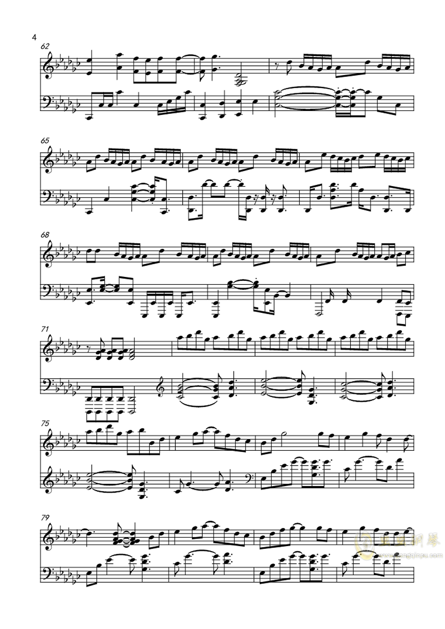打上花火钢琴谱 第4页