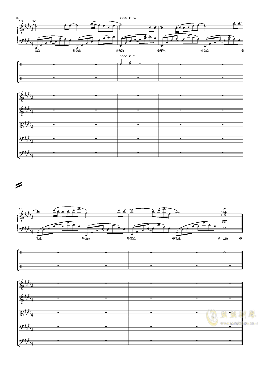 December钢琴谱 第10页