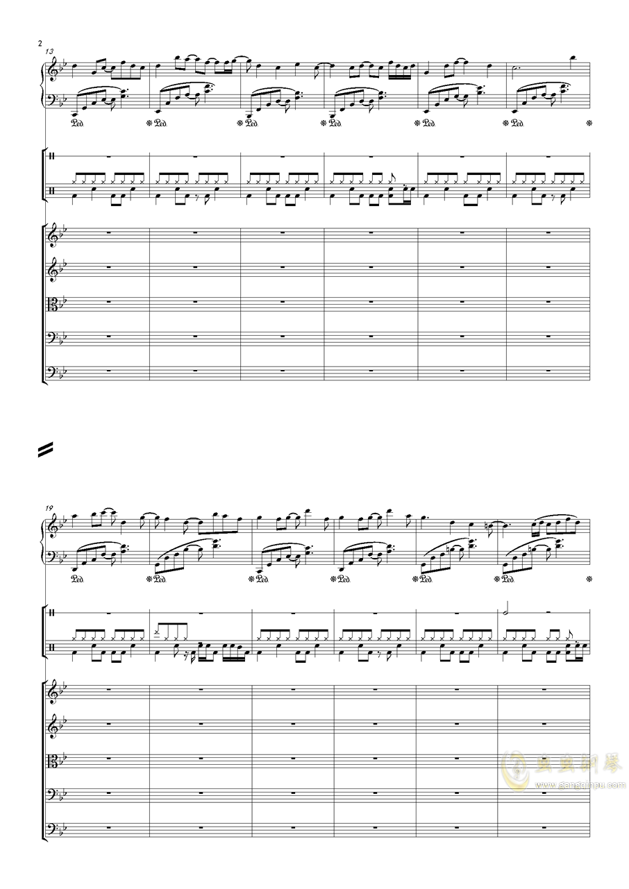 December钢琴谱 第2页