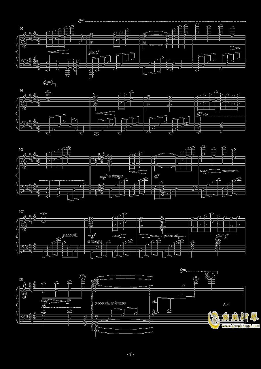 幻想游戏钢琴谱 第7页