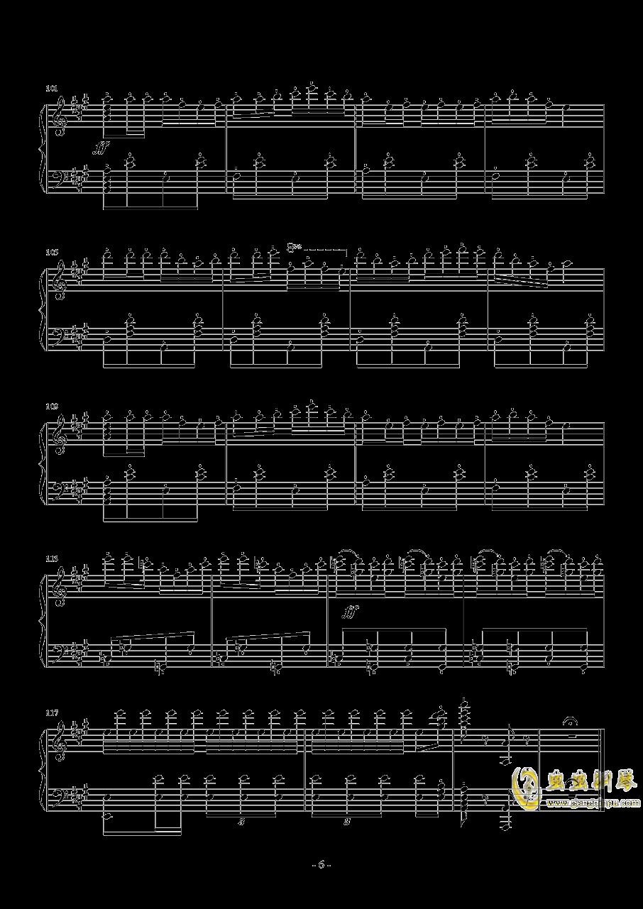 卡门序曲钢琴谱 第6页