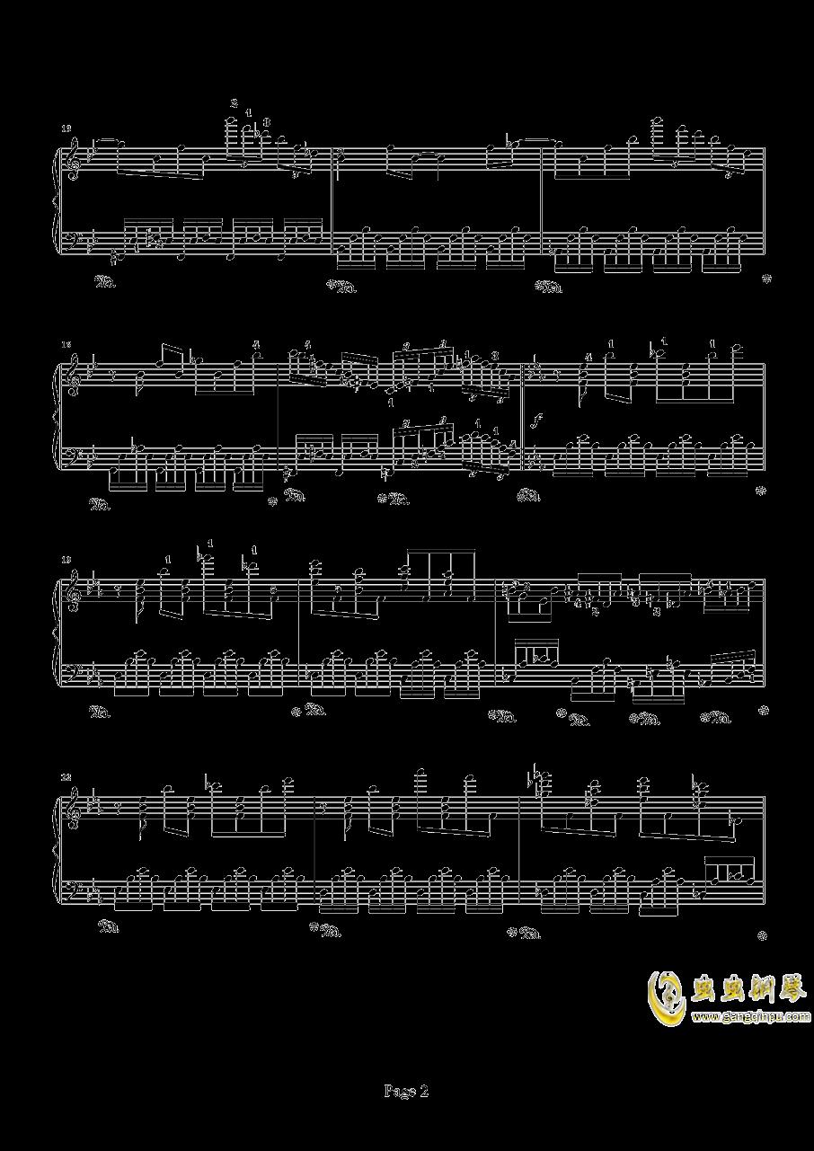 时空幻想练习曲钢琴谱 第2页