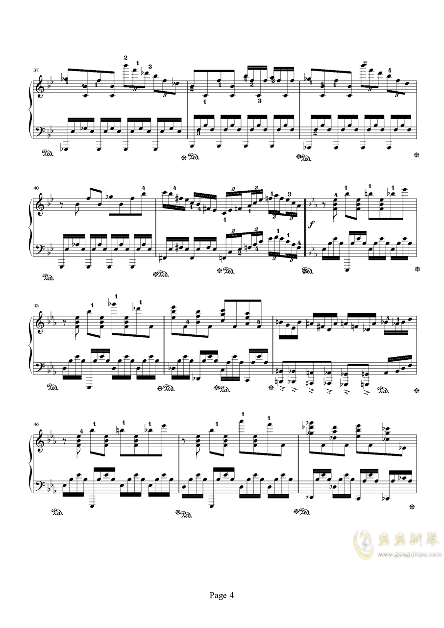 时空幻想练习曲钢琴谱 第4页