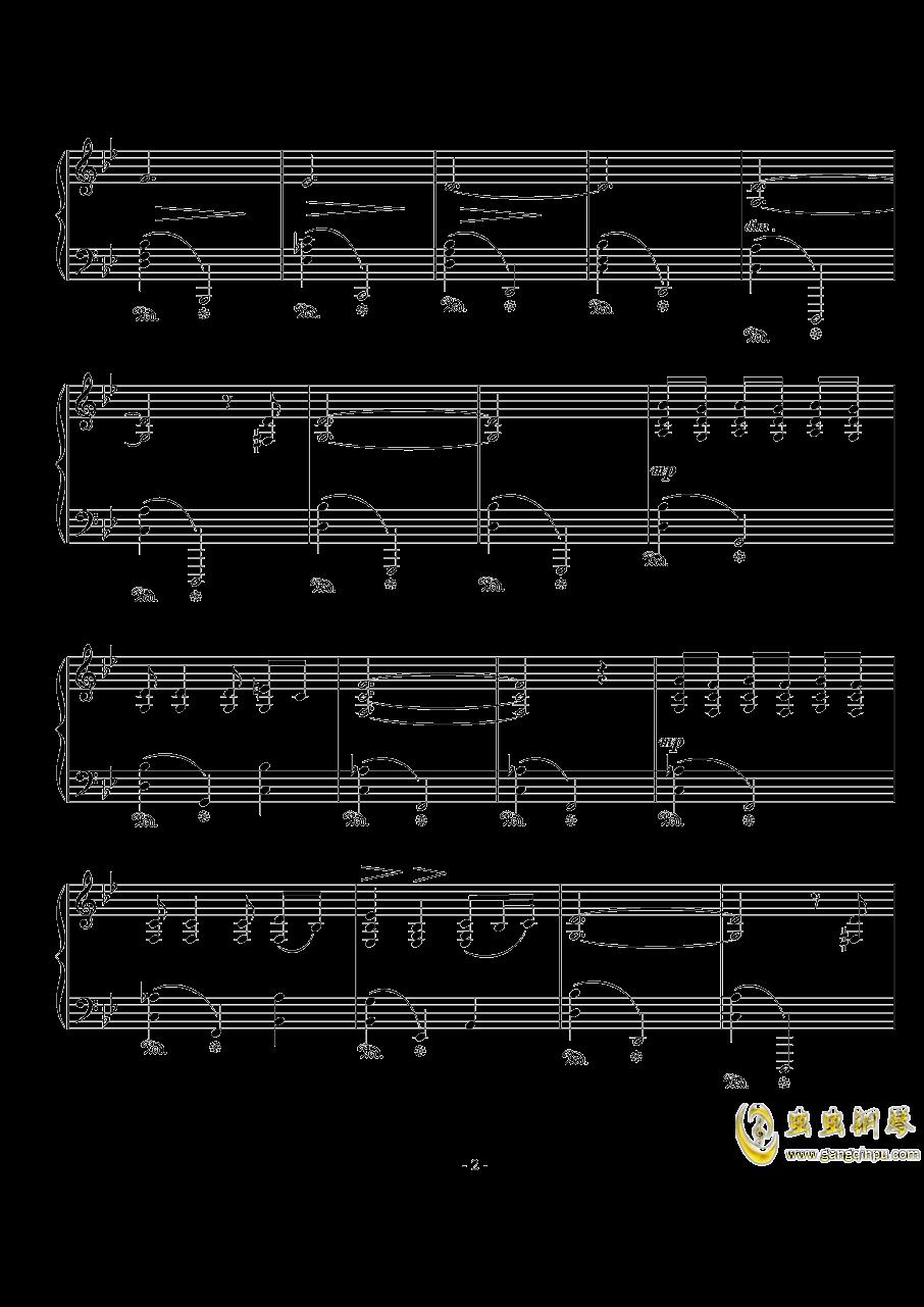 船歌钢琴谱 第2页