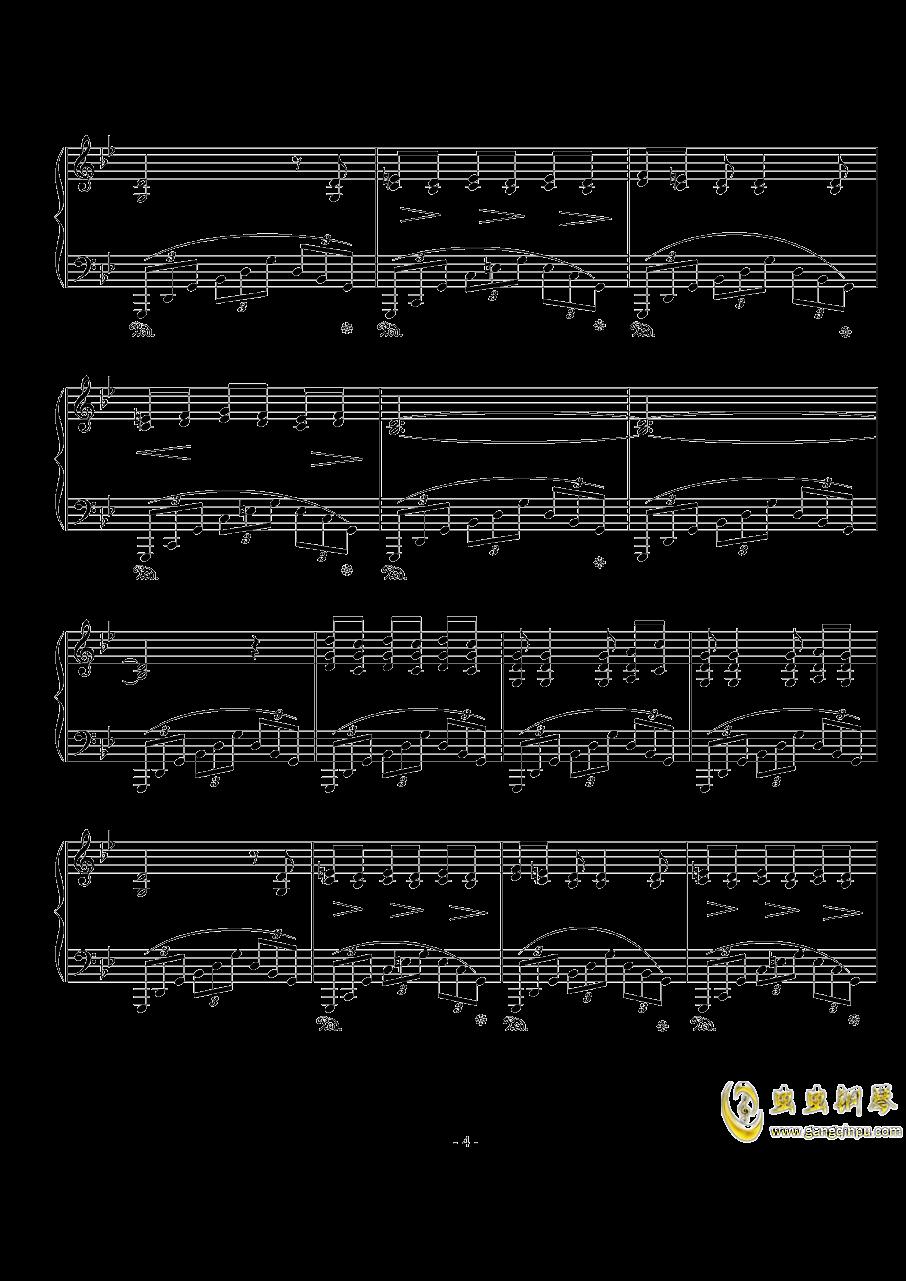 船歌钢琴谱 第4页