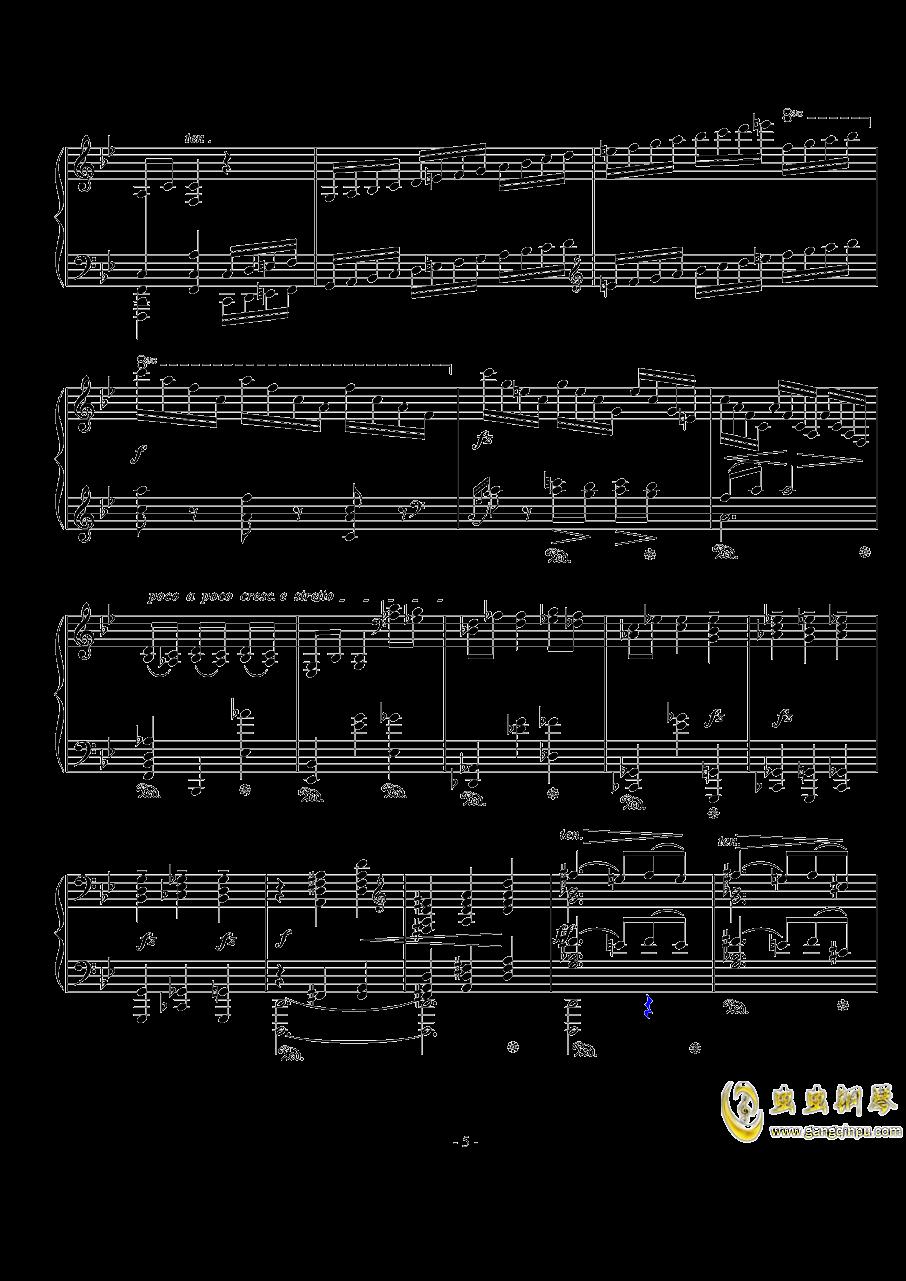 船歌钢琴谱 第5页