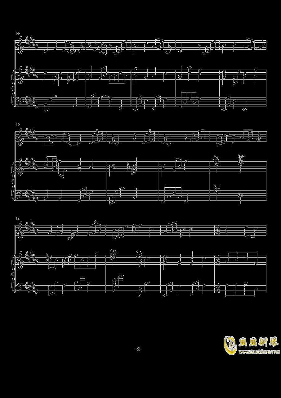 情歌钢琴谱 第2页