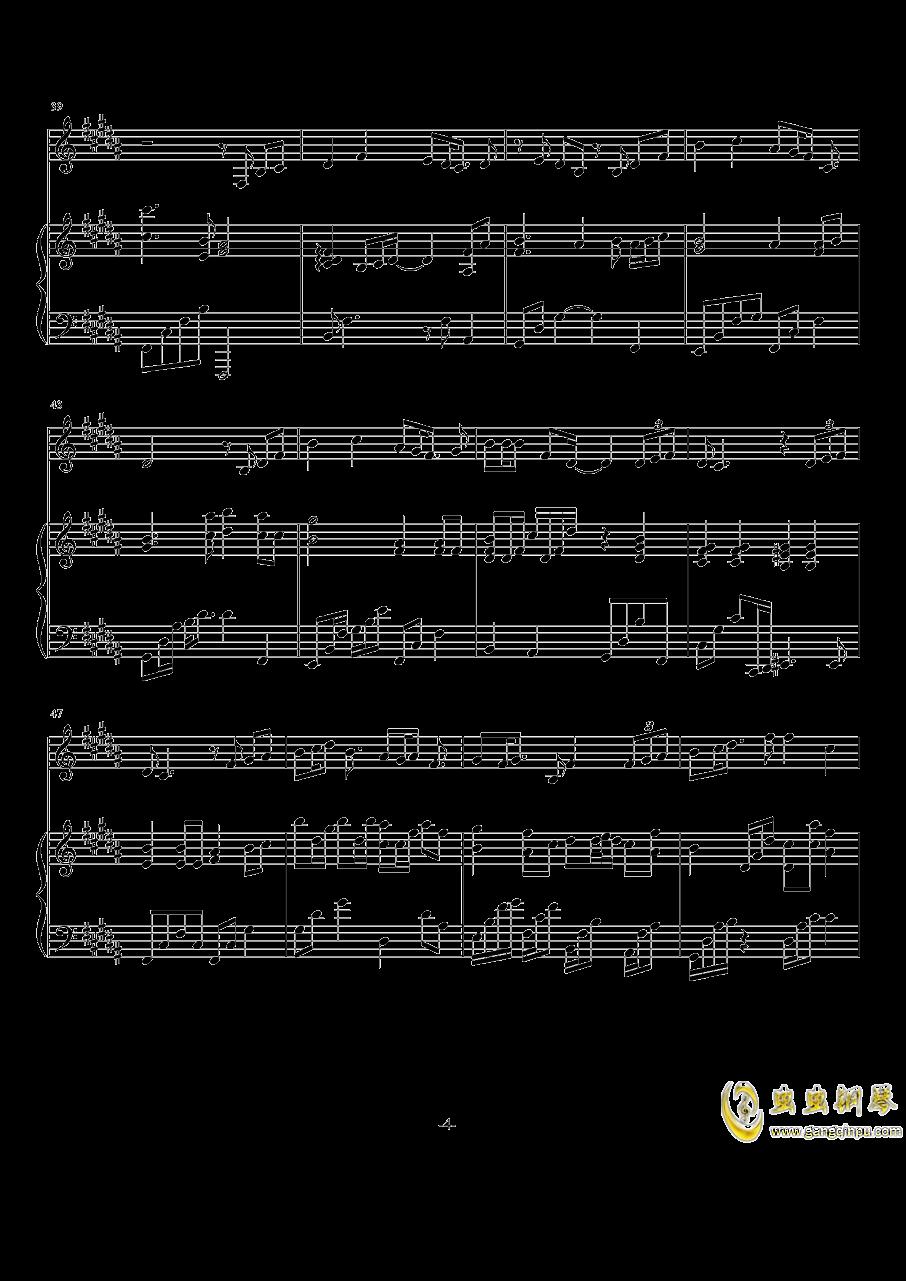情歌钢琴谱 第4页