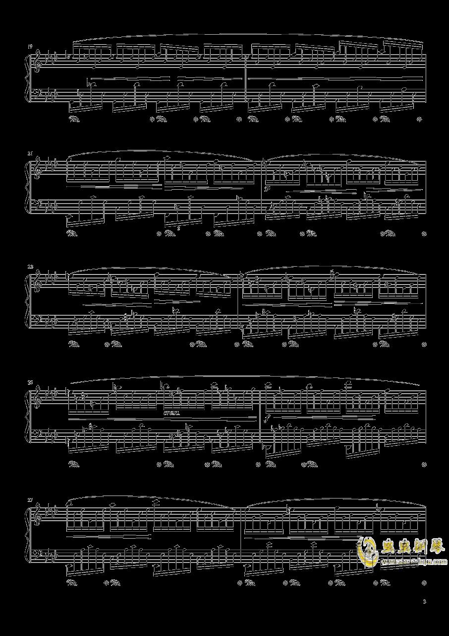 练习曲 Op. 25 Nr. 1钢琴谱 第3页