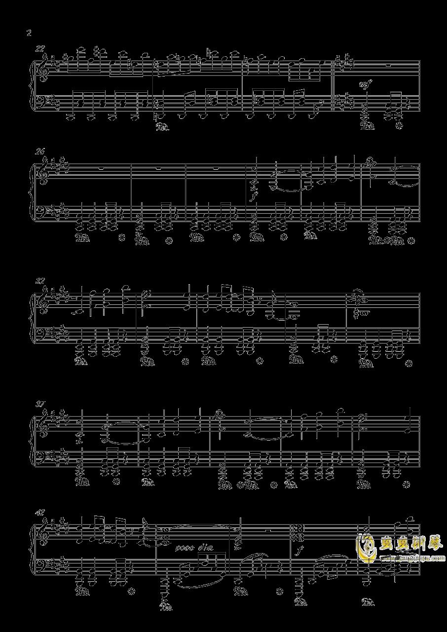 幻想游戏钢琴谱 第2页