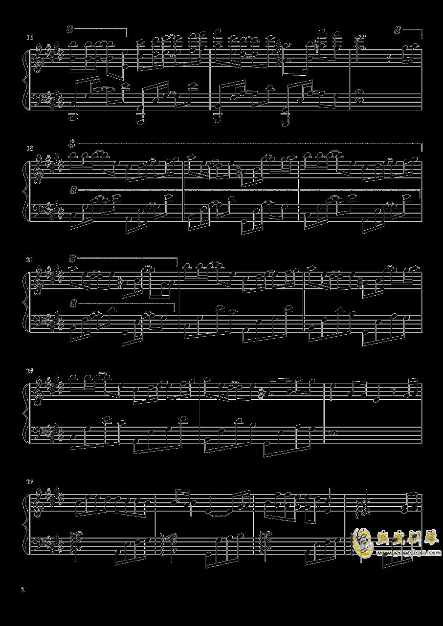 那个清晨钢琴谱 第2页