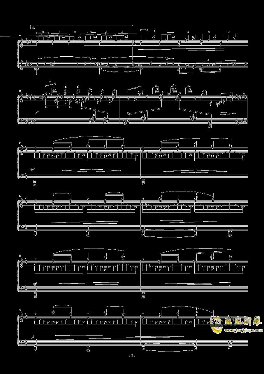 飞舞的山泉钢琴谱 第2页