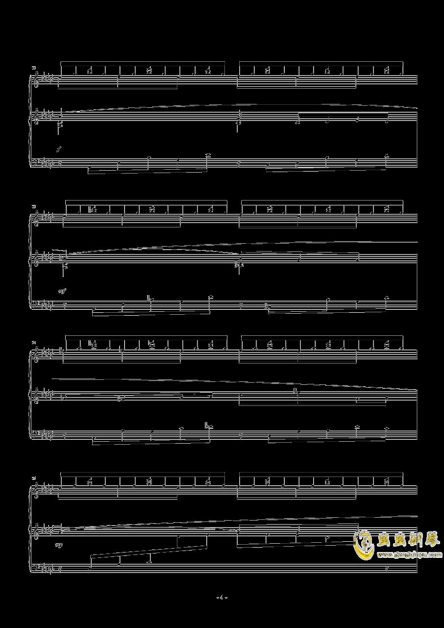 飞舞的山泉钢琴谱 第4页
