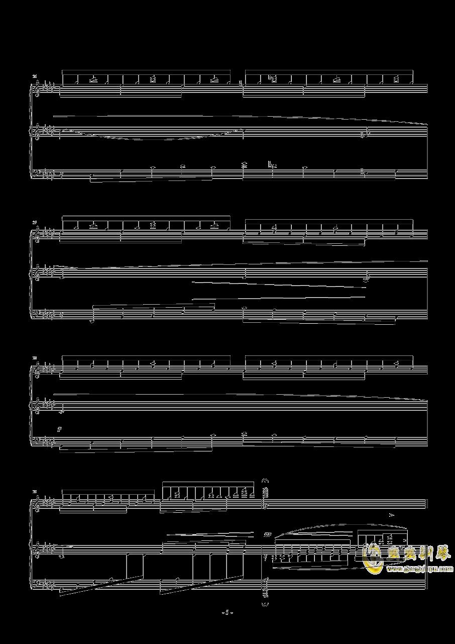 飞舞的山泉钢琴谱 第5页