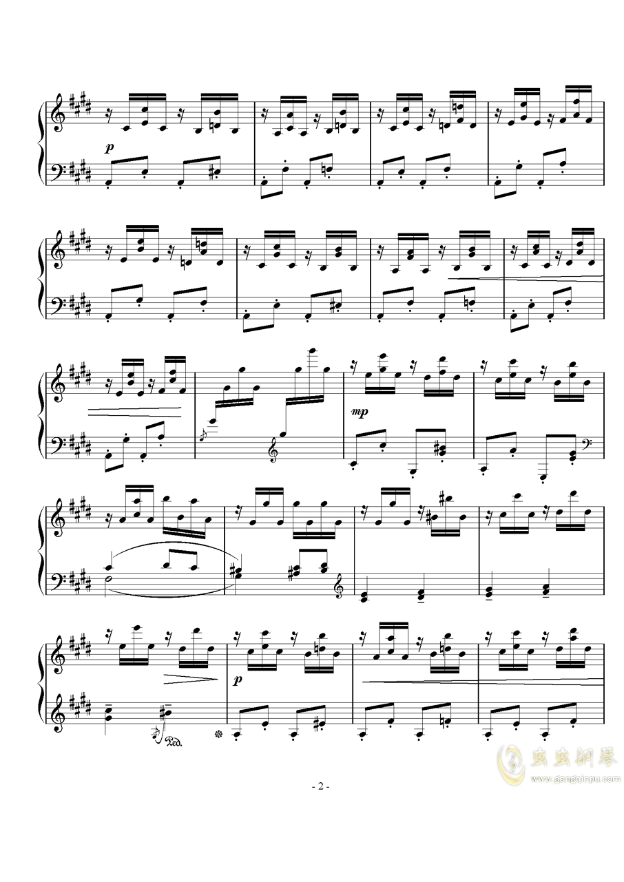 速写钢琴谱 第2页