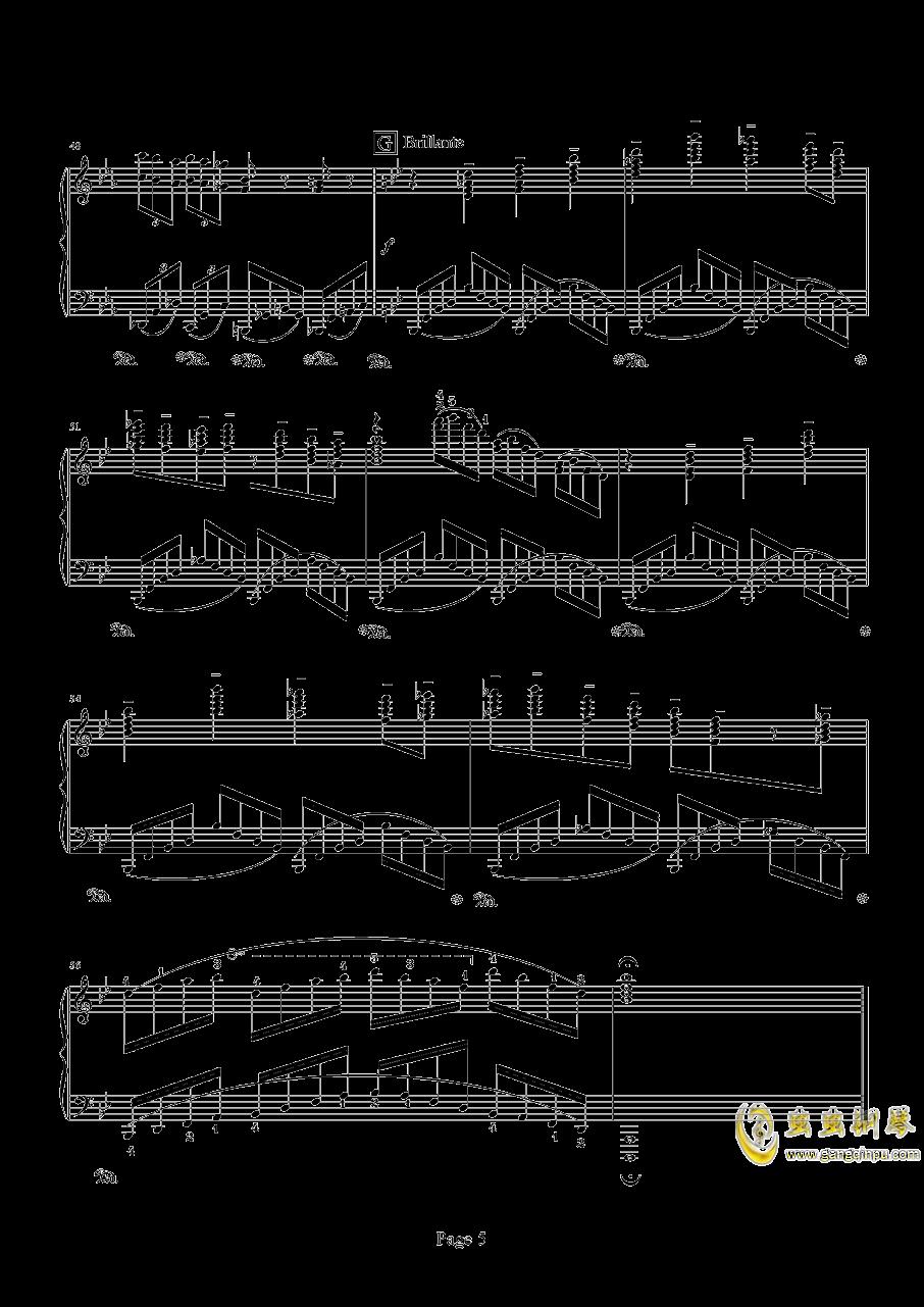 时空幻想练习曲(Ⅱ)钢琴谱 第5页