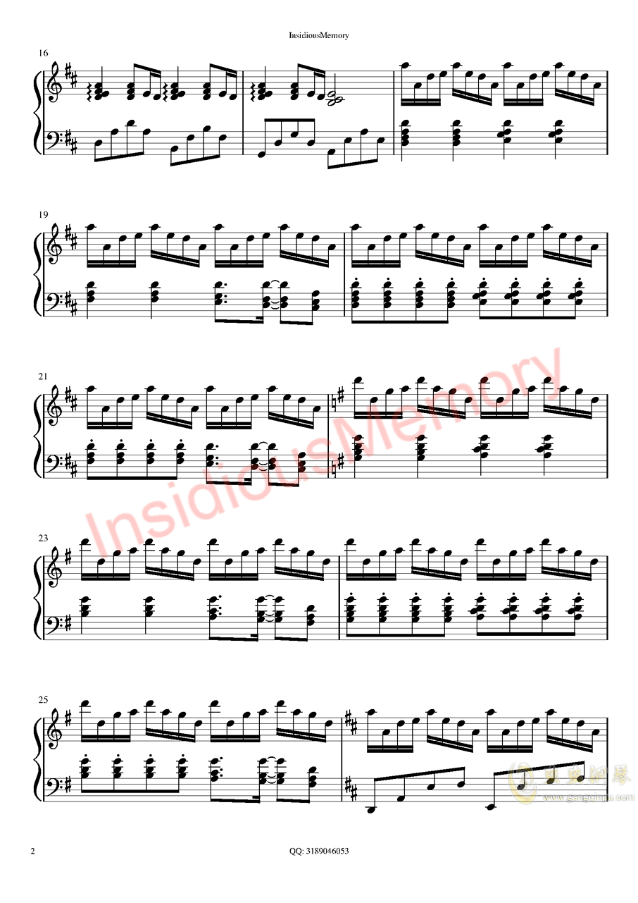 Summer钢琴谱 第2页