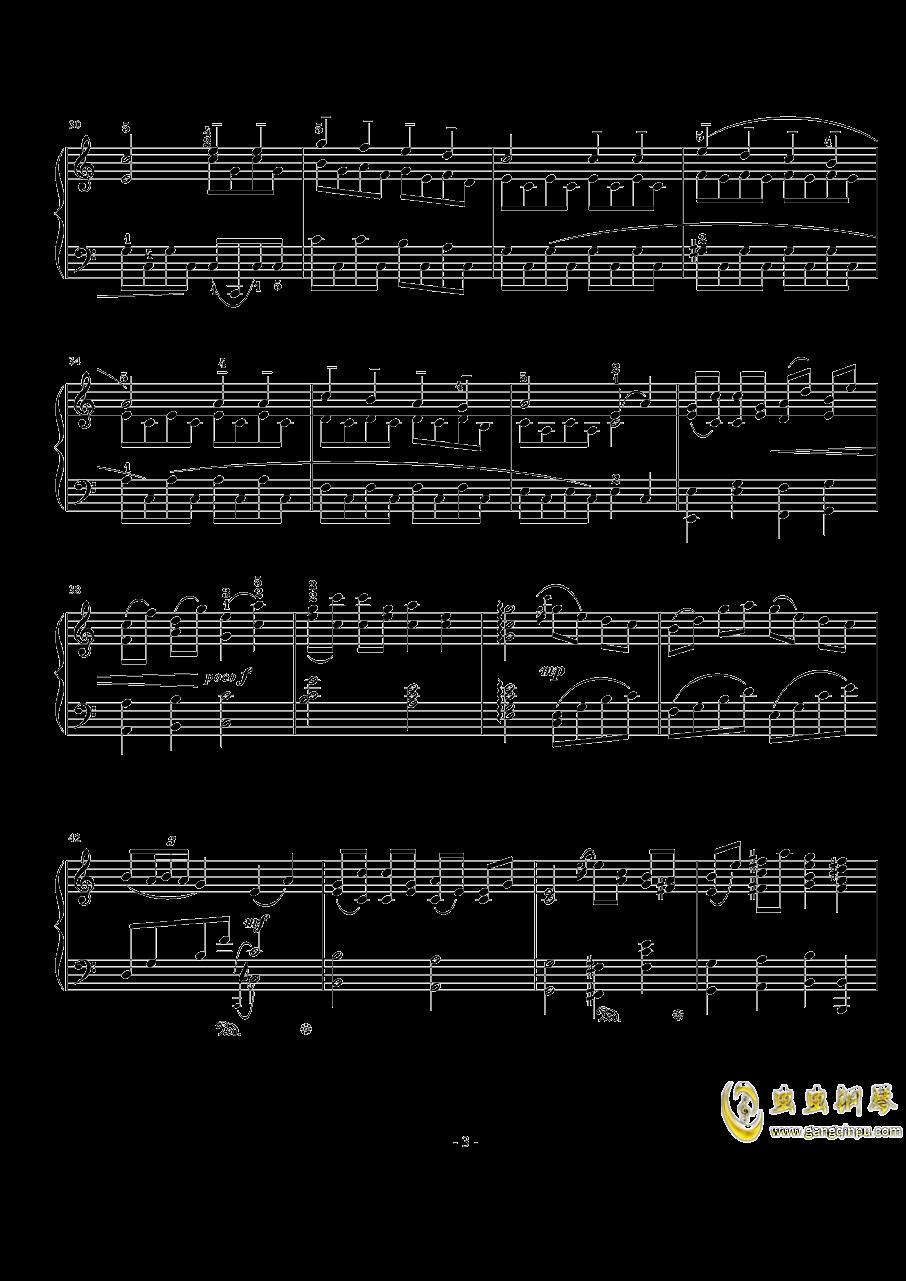 加沃特舞曲钢琴谱 第3页